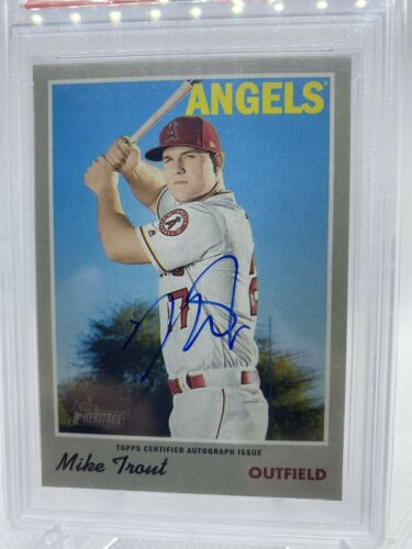 2019 Topps Heritage Mike Trout Real One Auto #MT PSA 10 GEM MINT - Image 2