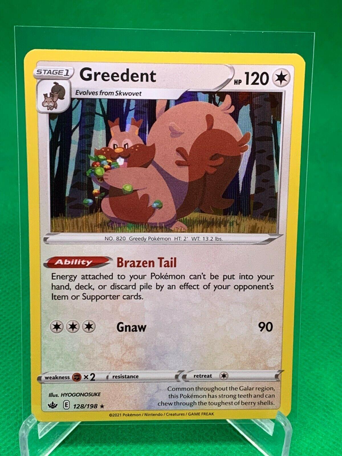 Pokemon - Greedent - Chilling Reign - 128/198 - Holo Rare