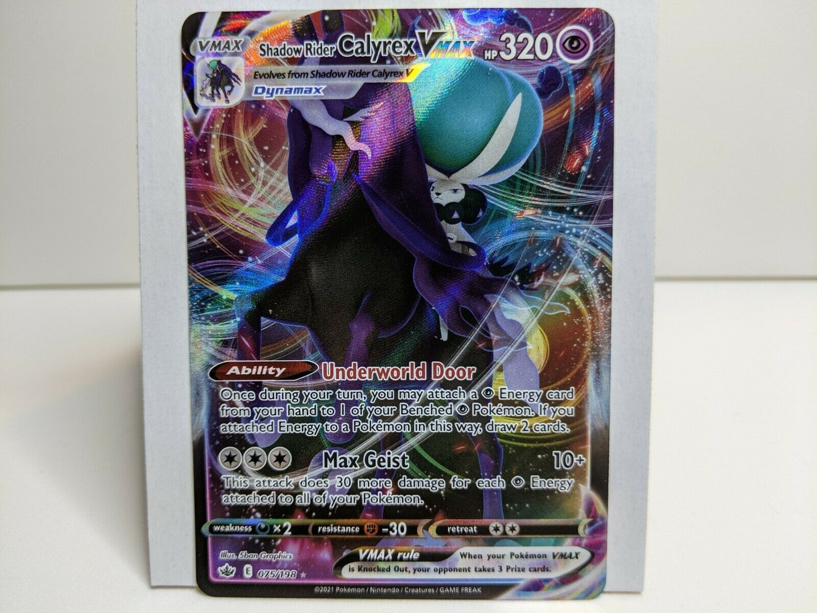 Shadow Rider Calyrex VMAX 075/198 - Chilling Reign - Pokemon TCG Card - NM [4]