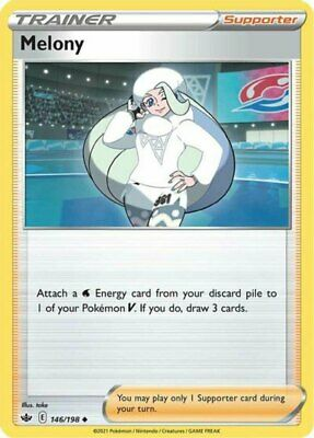 x1 Melony - 146/198 - Uncommon Pokemon SS06 Chilling Reign M/NM