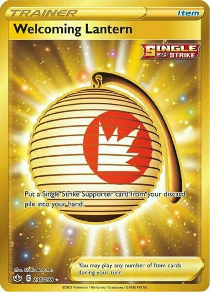 Pokemon - Welcoming Lantern - 230/198 - Secret Rare - Chilling Reign  - NM/M