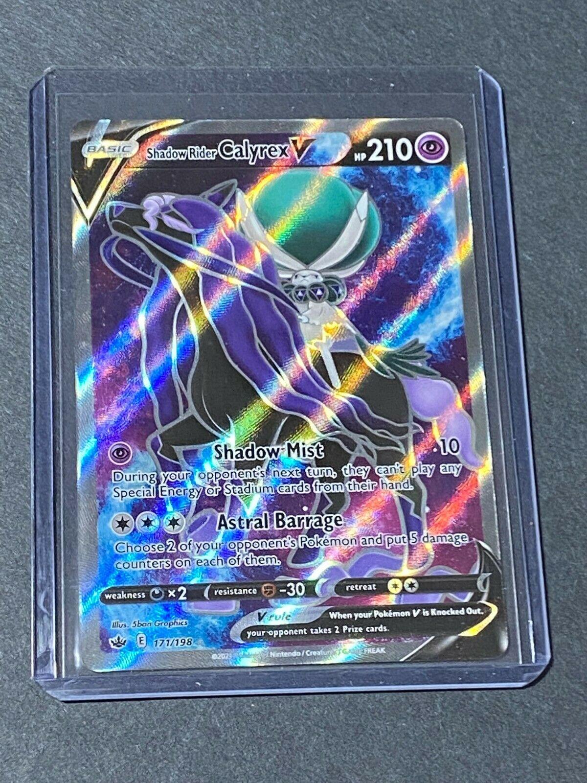 Shadow Rider Calyrex V Full Art 171/198 Chilling Reign POKEMON TCG