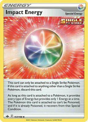 x4 Impact Energy - 157/198 - Uncommon Pokemon SS06 Chilling Reign M/NM