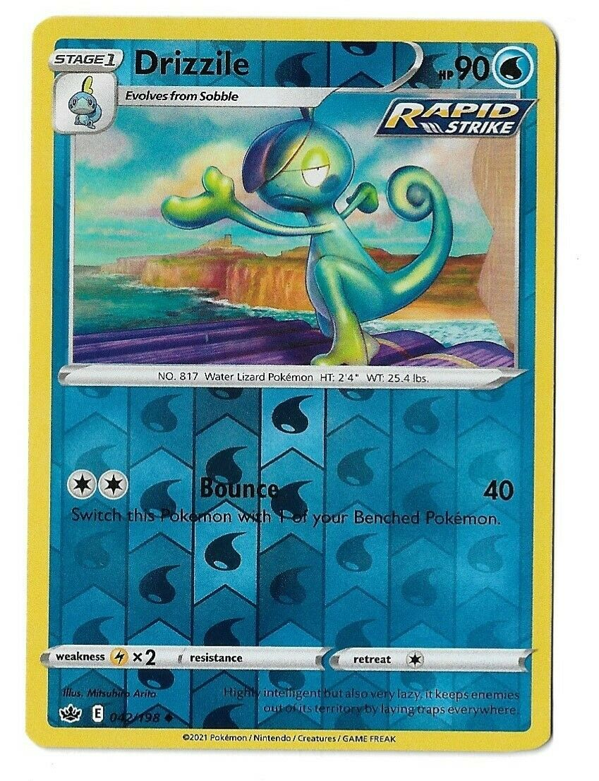 Pokemon TCG Chilling reign reverse holo Drizzile 042/198 NM