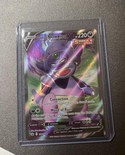 Galarian Slowking V FULL ART 178/198 Pokemon Chilling Reign MINT Ultra Rare