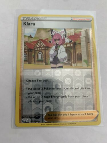 Pokemon Card Chilling Reign Klara - 145/198 - Uncommon Reverse Holo NM/ Mint
