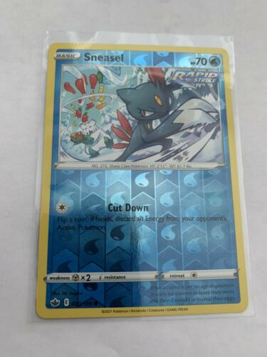 Pokemon Card Chilling Reign Sneasel - 030/198 - Common Reverse Holo NM/ Mint