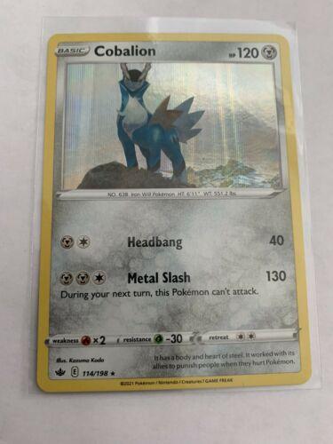 Pokemon Card Chilling Reign Cobalion - 114/198 - Rare Holo NM/ Mint