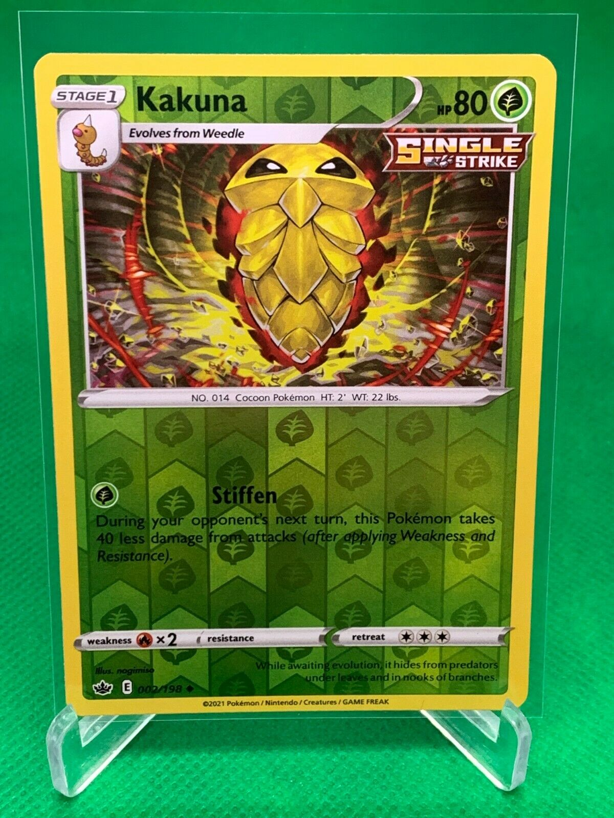 Pokemon - Kakuna - Chilling Reign - 002/198 - Reverse Holo