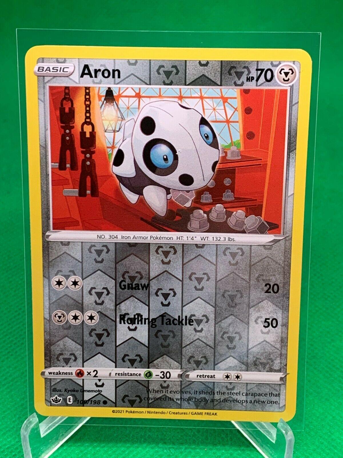 Pokemon - Aron - Chilling Reign - 109/198 - Reverse Holo