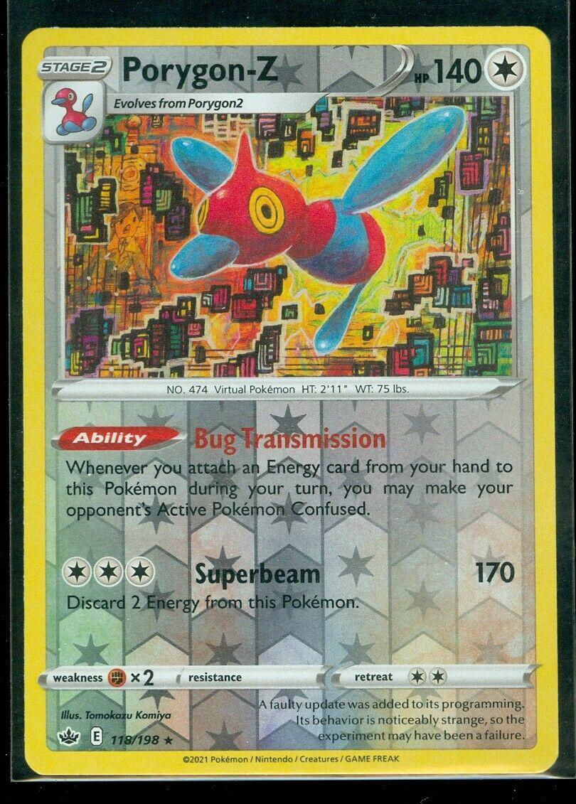 Pokemon PORYGON-Z 118/198 Chilling Reign - RARE Rev Holo - - MINT