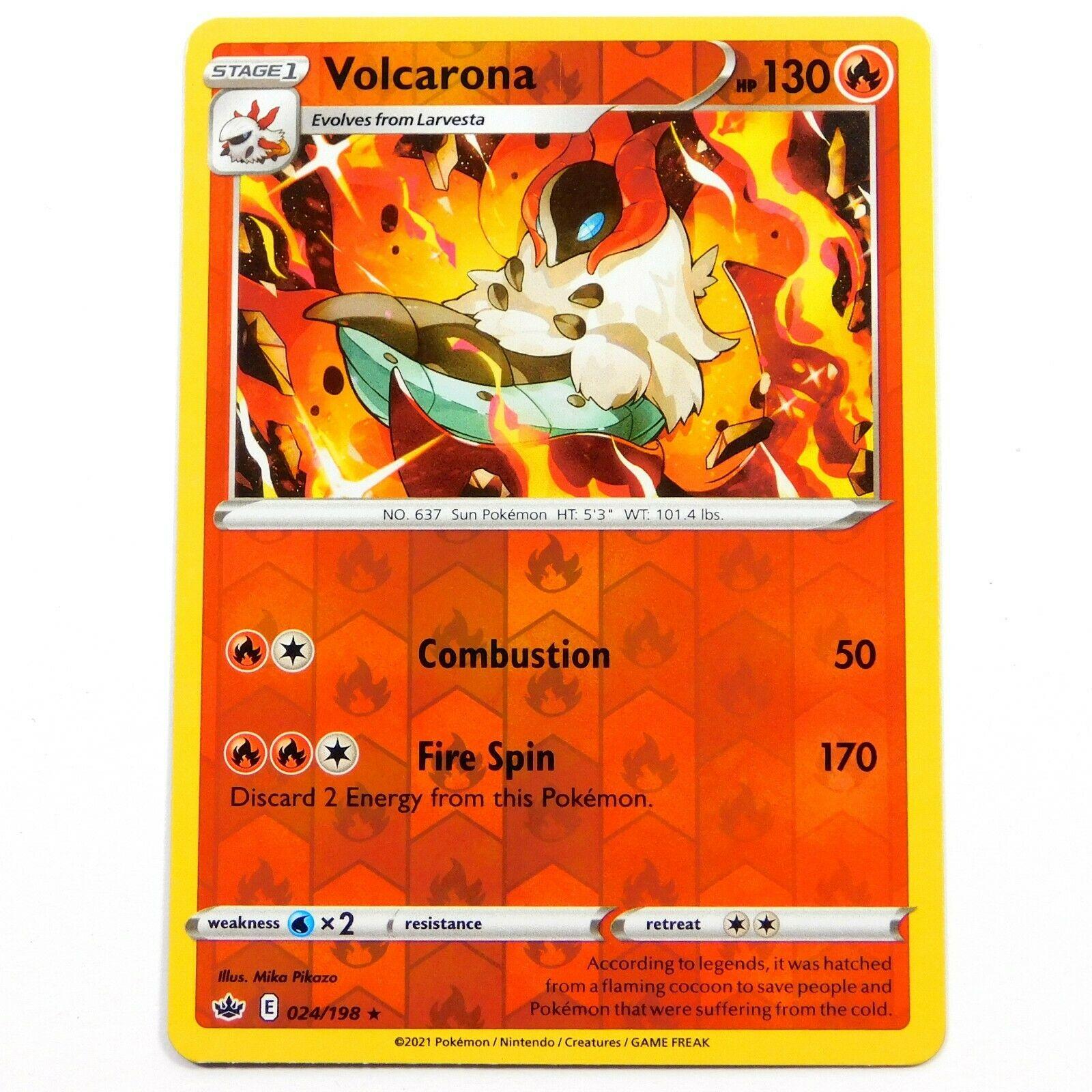 Volcarona 024/198 Reverse Holo Rare Chilling Reign Pokemon Card NM/M