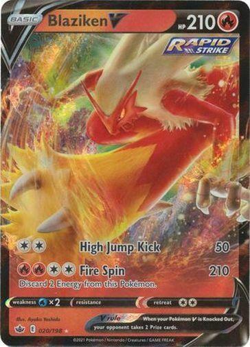 Pokemon Chilling Reign Blaziken V Ultra Rare 020/198