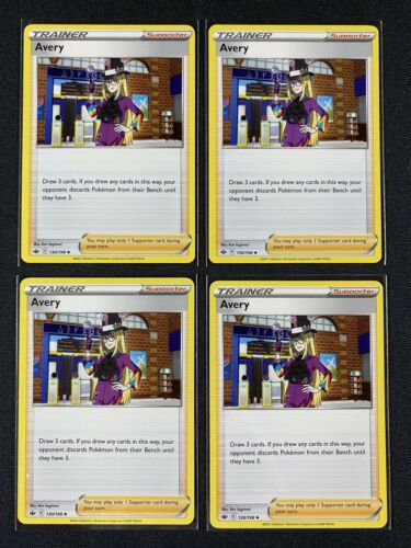 Pokemon Cards - Avery x4 Playset - Chilling Reign 130/198 NM