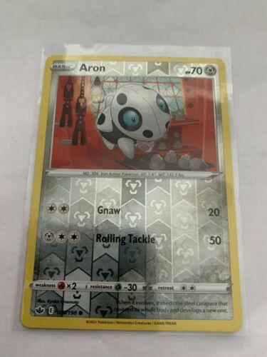 Pokemon Card Chilling Reign Aron - 109/198 - Common Reverse Holo NM/ Mint