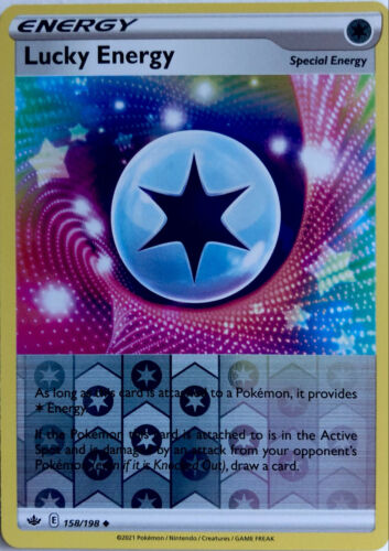 Lucky Energy 158/198 Uncommon Reverse Holo Chilling Reign Pokemon Card
