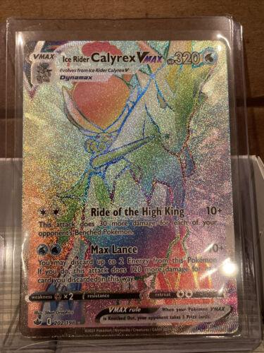 Ice Rider Calyrex Vmax 202/198 Chilling Reign Secret Rare Full Art