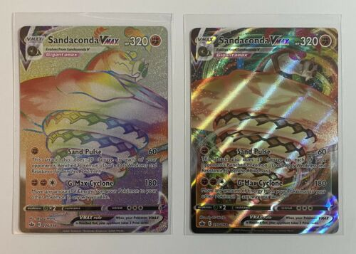 Sandaconda VMAX Rainbow Secret 206/198 & VMAX 090/198 Pokemon Chilling Reign NM