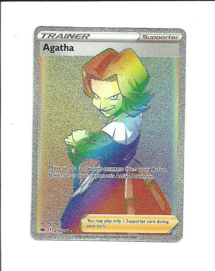 POKEMON CHILLING REIGN Agatha Secret Rare Trainer 210/198