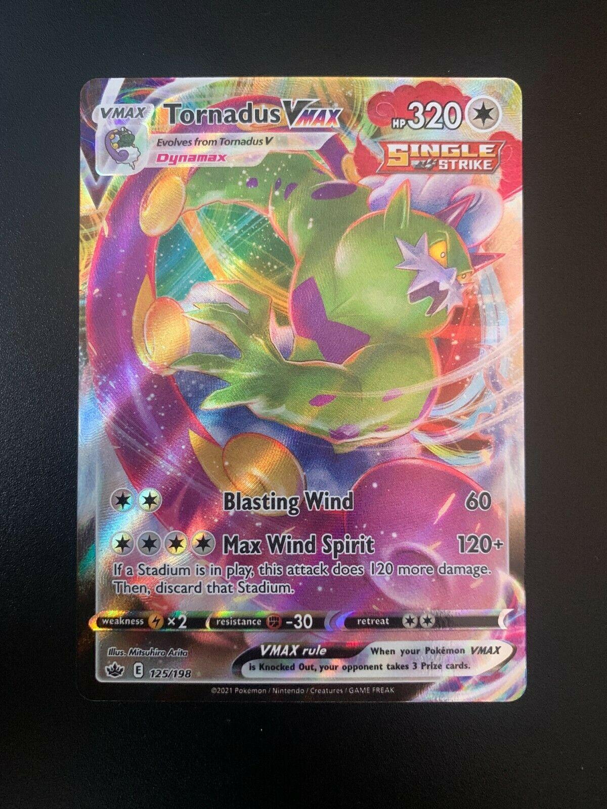 Pokemon Card Tornadus VMAX 125/198 Chilling Reign FULL ART HOLO RARE