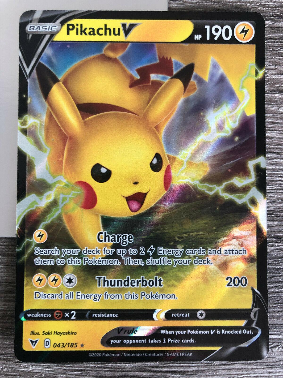 043//185 Ultra Rare Pokemon Pikachu V NM//M Vivid Voltage