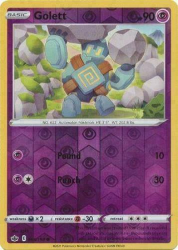 Pokemon - Golett 065/198 - Reverse Holo - Chilling Reign - NM/M