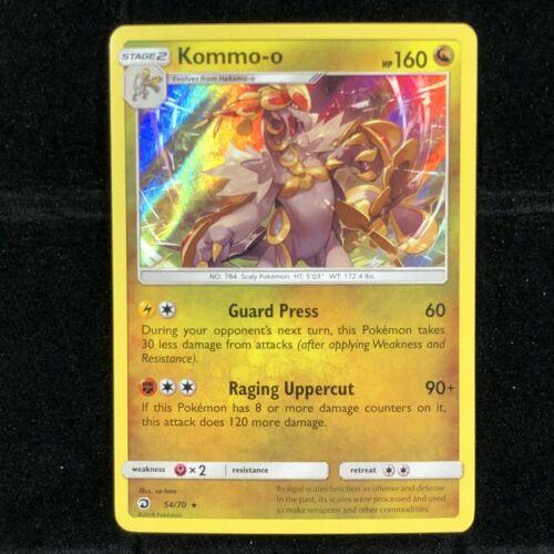 Kommo-o 54/70 Holo Rare Pokemon TCG Card | LP | Sun & Moon Dragon Majesty 2018