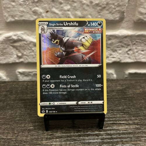 Single Strike Urshifu 108/198 Pokemon Chilling Reign Holo Rare English In Hand