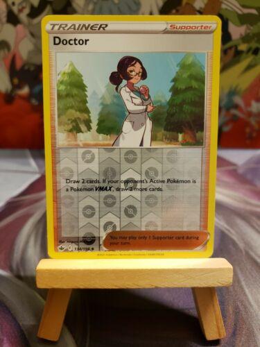 Doctor [134/198] Reverse Holo, SWSH Chilling Reign, Mint/NM, Pokemon TCG - Image 1