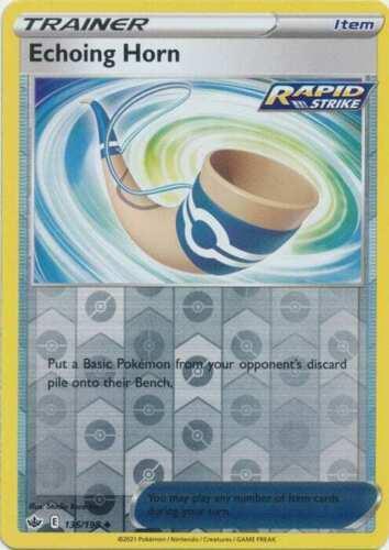 Pokemon - Echoing Horn 136/198  - Reverse Holo - Chilling Reign - NM/M