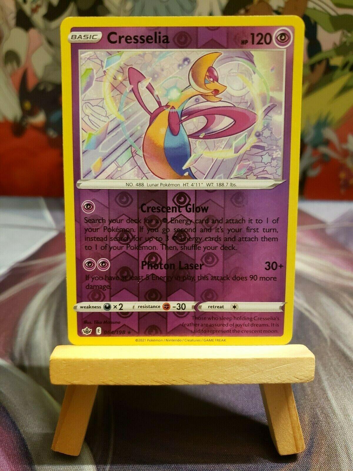 Cresselia [064/198] Reverse Holo Rare, SWSH Chilling Reign, Pokemon TCG