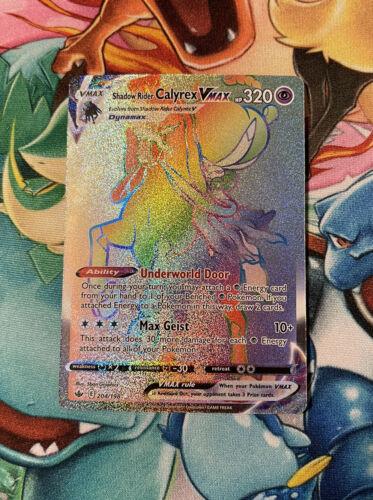 Pokemon Chilling Reign Shadow Rider Calyrex VMax 204/198 Rainbow Rare NM