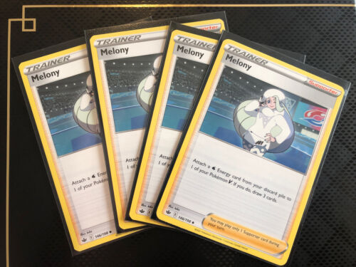 [Playset] 4x Pokemon Card Melony Supporter (146/198) - Chilling Reign ~NM!~