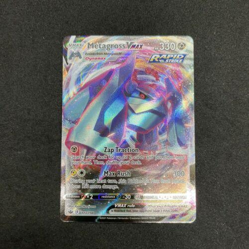 Metagross Vmax 113/198 Full Art Ultra Rare Chilling Reign Pokemon Card