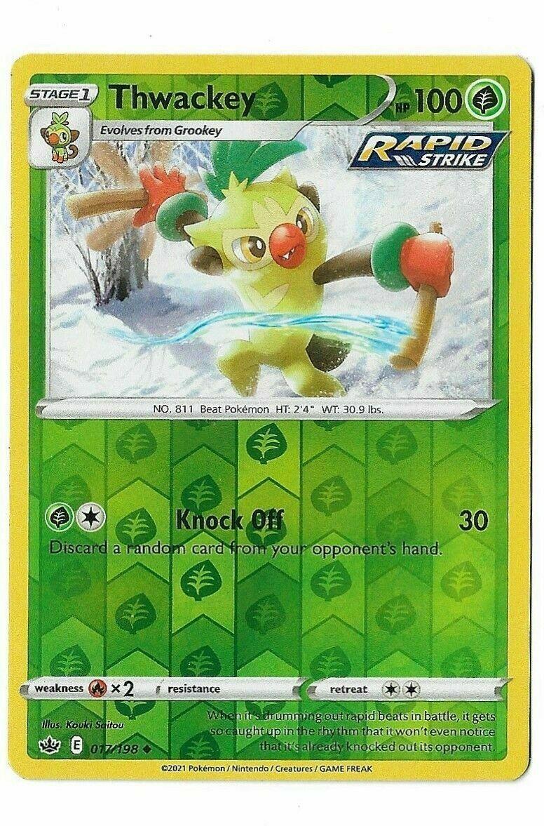 Pokemon - Thwackey 017/198 - Reverse Holo - Chilling Reign - NM/M