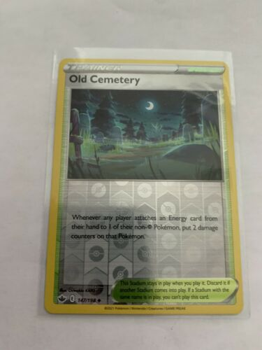 Pokemon Card Chilling Reign Old Cemetery - 147/198 - Uncommon Reverse Holo NM