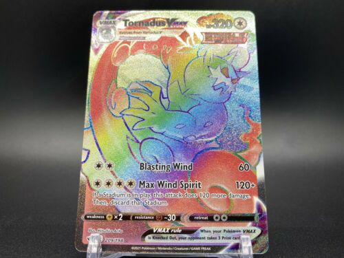 Tornadus VMAX Rainbow Rare 209/198 Pokemon TCG Chilling Reign Near Mint Fresh - Image 4
