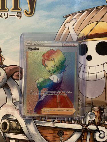 AGATHA Trainer Rainbow Chilling Reign Pokemon Cards #210/198