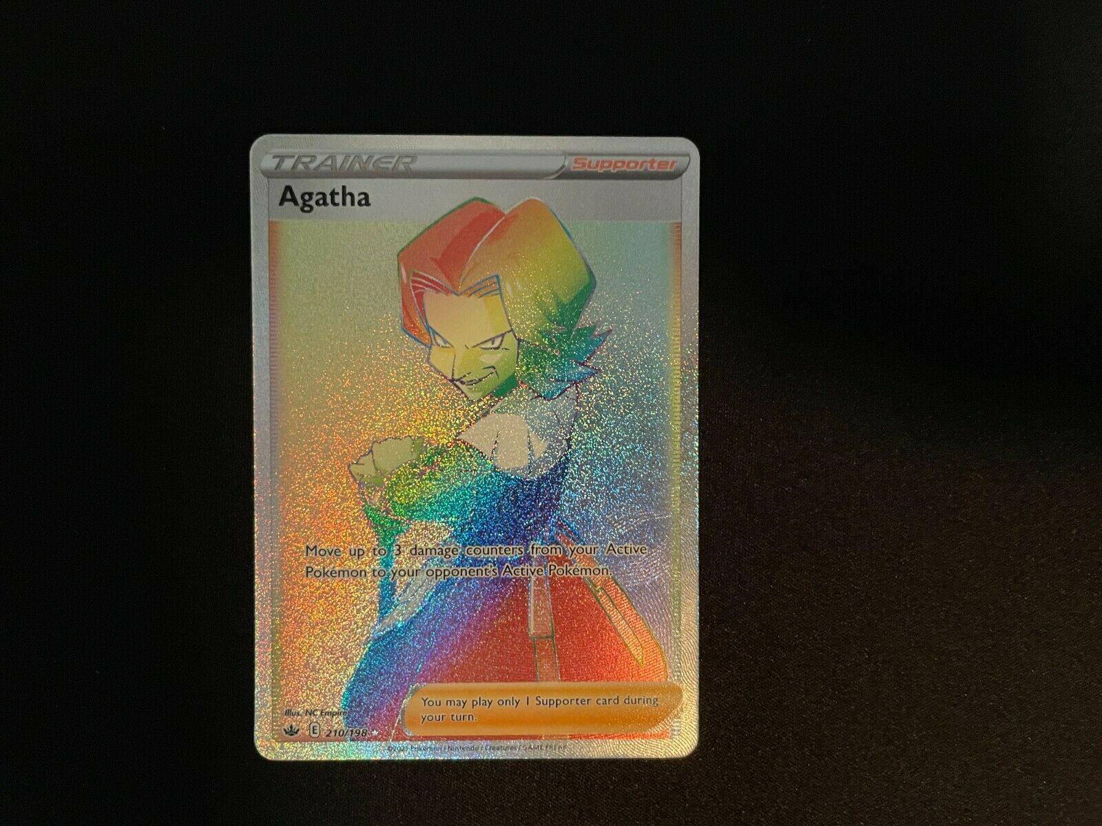 Pokemon  Agatha  210/198  Hyper Secret Rare  Chilling Reign NM
