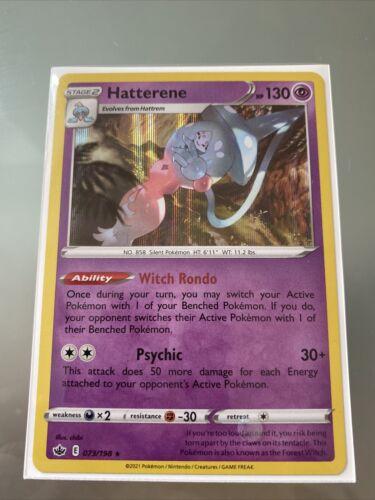 Hatterene - Pokemon SWSH Chilling Reign - Holo Rare - 073/198
