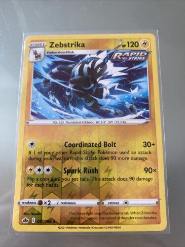 Zebstrika - Pokemon SWSH Chilling Reign - Reverse Holo - 051/198