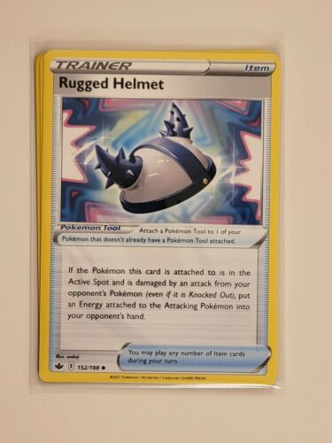 x4 Rugged Helmet 152/198 Uncommon Pokemon Chilling Reign Playset - NM/M 4x