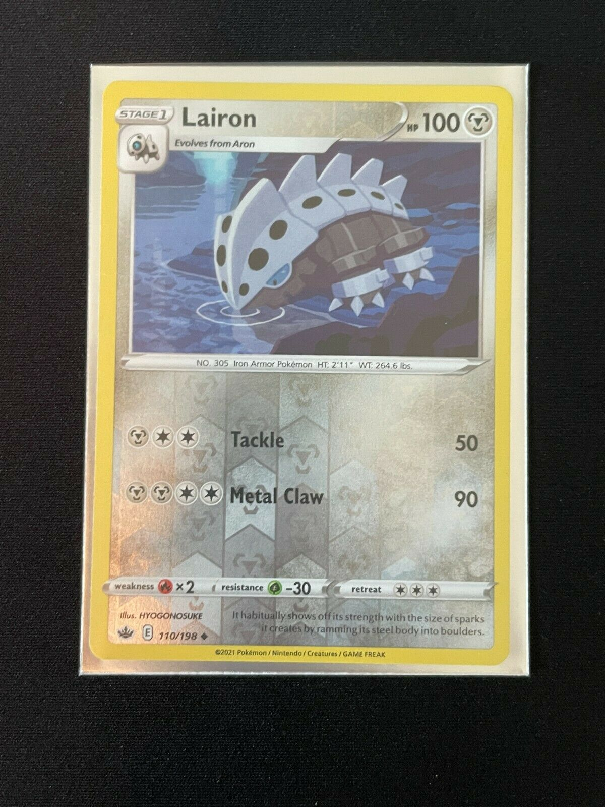 Pokemon Chilling Reign REVERSE HOLO Lairon 110/198 NM