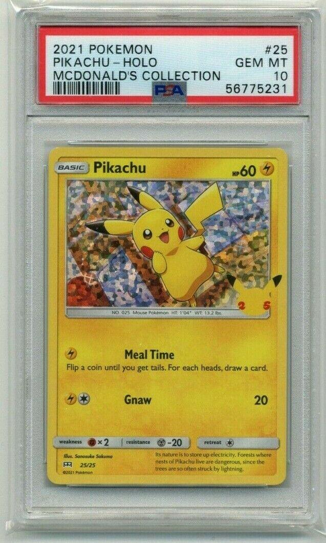 2021 Pokemon McDonald's Collection Promo Pikachu HOLO 25/25 PSA 10