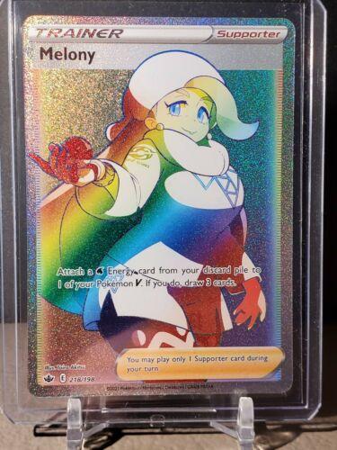 Pokemon Chilling Reign Rainbow Full Art Secret Rare Melony 218/198 NM