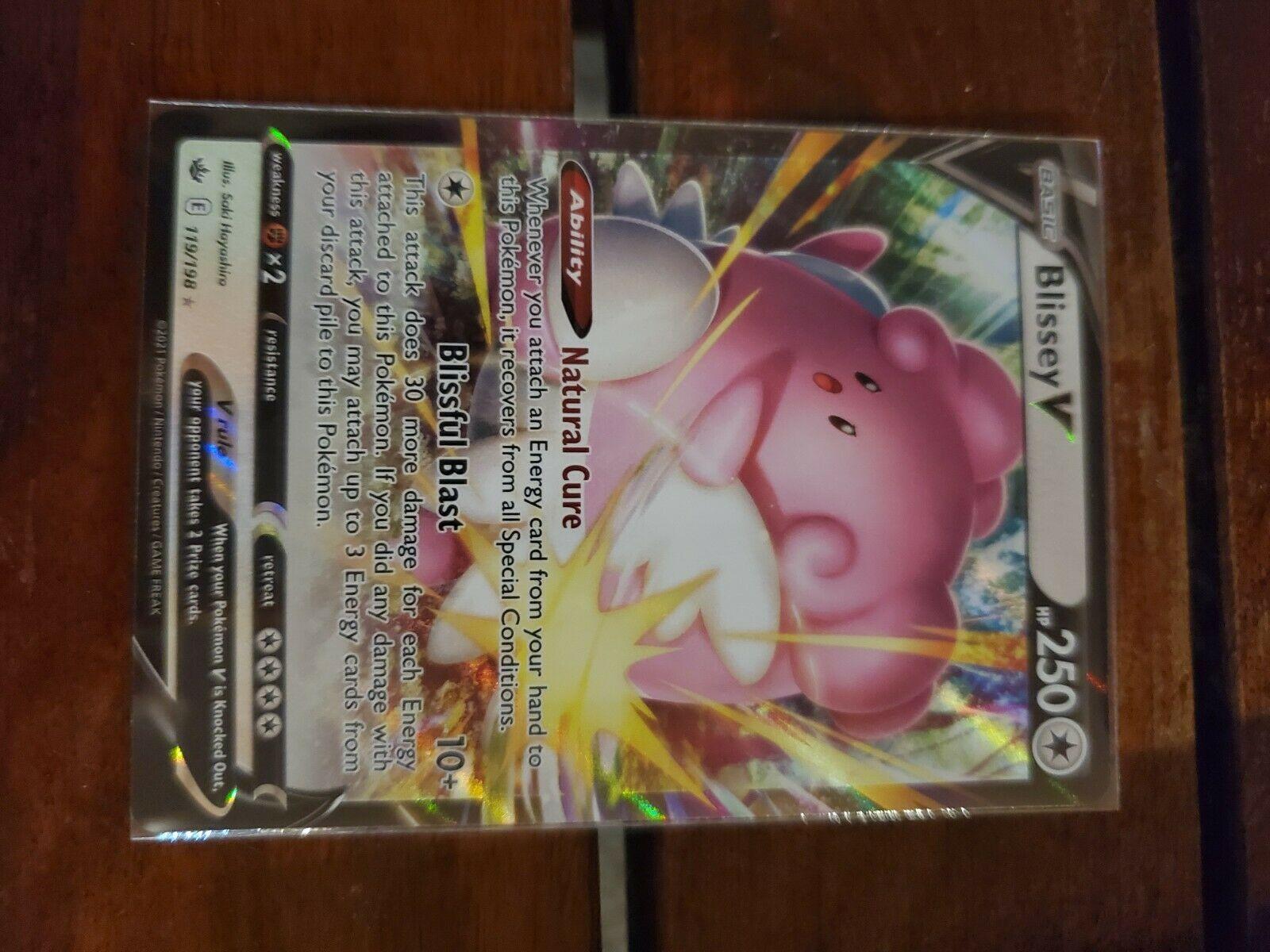 Blissey V 182/198 NM Mint Chilling Reign Ultra Rare Pokemon Card