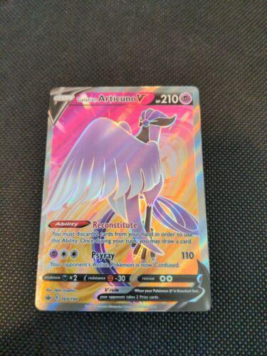 Galarian Articuno V 169/198 Chilling Reign NM/M Pokemon TCG
