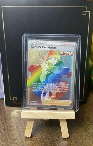 Karen's Conviction 216/198 - Rainbow Rare - Chilling Reign - Mint