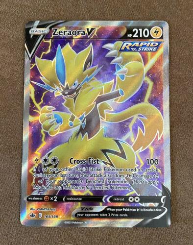 Pokémon TCG Chilling Reign - ZERAORA V Full Art 165/198 NM/MINT