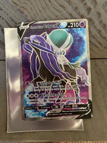 Pokemon Card - Shadow Rider Calyrex V 171/198 Chilling Reign- Mint Condition